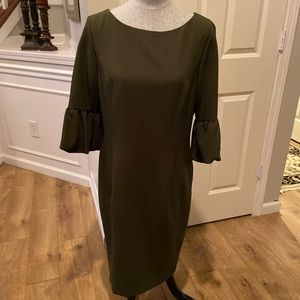 Antonio Melani Olive Dress Sz 12